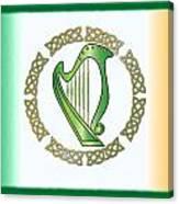 Irish Harp Canvas Print