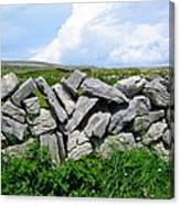 Irish Stone Wall Canvas Print