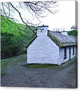 Irish Thatched Roof Cottage Canvas Print