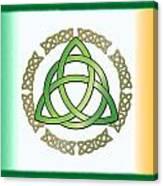 Irish Triquetra Canvas Print
