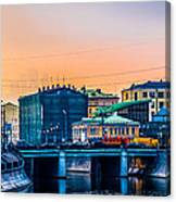 Iron Bridge Panorama Canvas Print