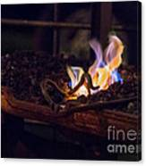 Iron In Fire Oiltreatment Canvas Print