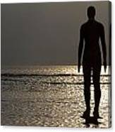 Iron Man Waiting For Sunset 1 Canvas Print