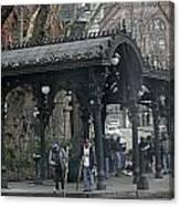 Iron Pergola Pioneer Square Canvas Print