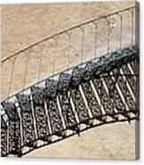Iron Stairs Shadow Canvas Print