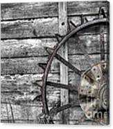 Iron Tractor Wheel Canvas Print