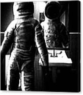 The Astronaut And The Bathroom Canvas Print