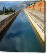 Irrigation Canal Canvas Print