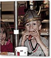 Is She Adoring Her Viking Or Coveting His Lunch Canvas Print