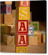 Isaac - Alphabet Blocks Canvas Print