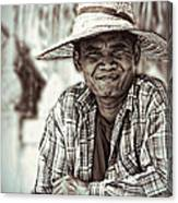 Isaan Rice Farmer Canvas Print