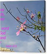 Isaiah 40 8 Canvas Print