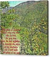 Isaiah 60 13 Canvas Print