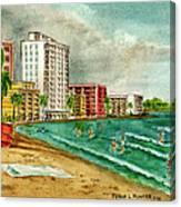 Isla Verde Beach San Juan Puerto Rico Canvas Print