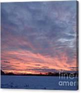 Island Barn Sunset Canvas Print