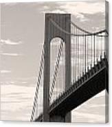 Island Bridge Bw Canvas Print