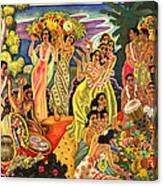 Island Feast Canvas Print