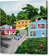 Island Hillside Living Canvas Print