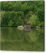 Island House On New River - West Virginia Canvas Print