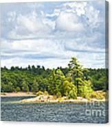 Island In Georgian Bay Canvas Print