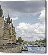 Island In The Seine Canvas Print
