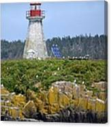 Island Lighthouse In Nova Scotia Canvas Print