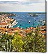 Island Of Hvar Scenic Coast Canvas Print