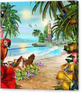 Island Of Palms Canvas Print
