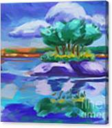 Island On The Lake Canvas Print