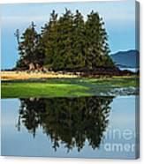 Island Reflection Canvas Print