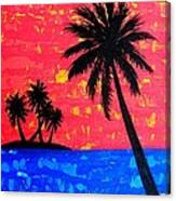 Island Seascape -Coral Canvas Print