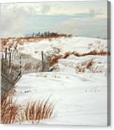 Island Snow Canvas Print