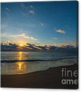 Coastal Beach Sunrise Canvas Print