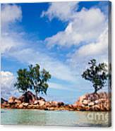 Islands And Clouds, The Seychelles Canvas Print