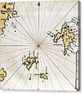 Islario General De Todas Las Islas Del Canvas Print