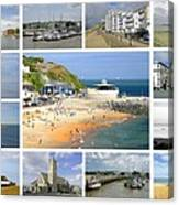 Isle Of Wight Collage - Plain Canvas Print