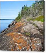 Isle Royale Rocky Shoreline Canvas Print