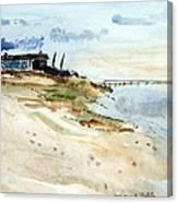 Isolated Beach House Canvas Print