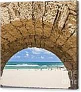 Israel Caesarea Aqueduct  Canvas Print