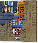 Israel The Holy Land Map Made With Recycled Usa License Plates ...