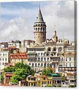 Istanbul Cityscape And Galata Tower Canvas Print