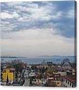 Istanbul Panorama Hdr Canvas Print