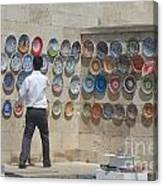 Istanbul Platter Seller Canvas Print
