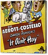 It Aint Hay, Top L-r Patsy Oconnor, Bud Canvas Print