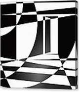 It Isn't Always As Simple As Black And White Canvas Print