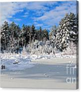 It Snow Reason Canvas Print
