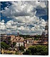 Italian Architecture In Rome City View Canvas Print
