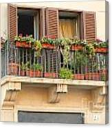 Italian Balcony Canvas Print