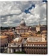 Italian City Rome Overview Canvas Print