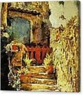 Italian Courtyard Canvas Print